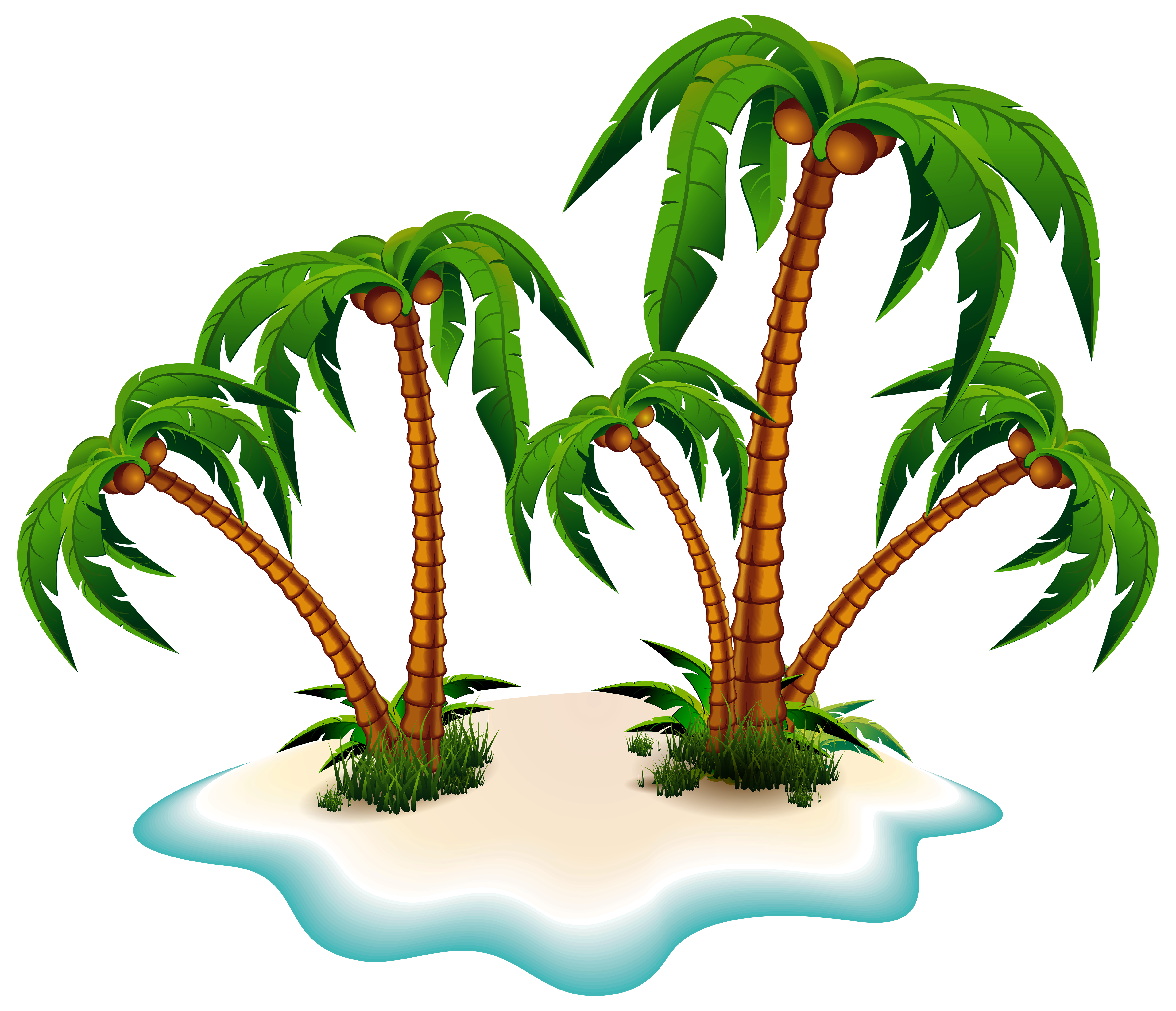 Trees and island png. Palm clipart moana