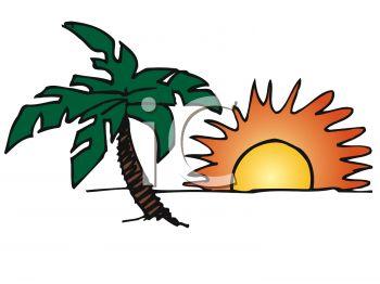 Island clipart island sunset. Clip art library