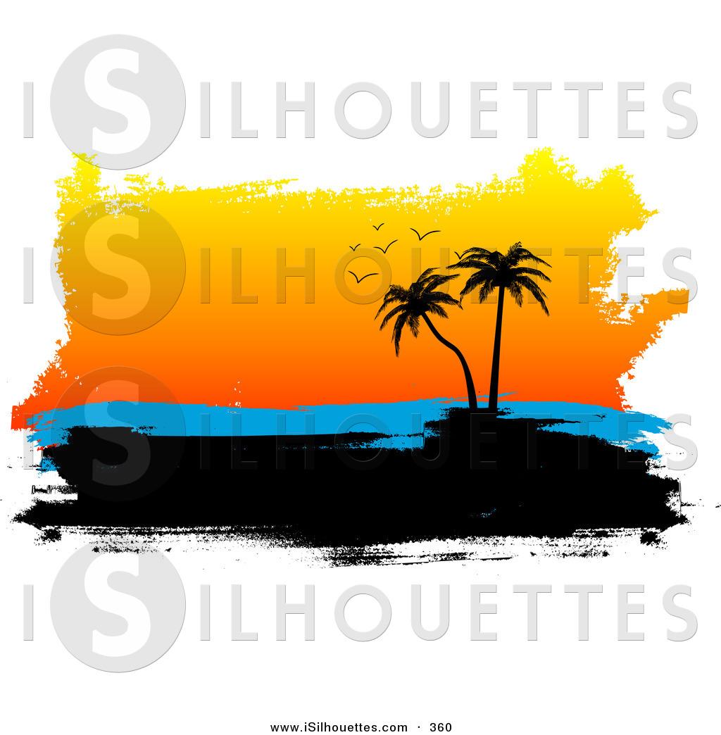 Island clipart island sunset. Panda free images