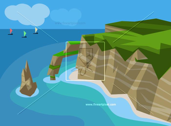 And free vectors illustrations. Island clipart land sea