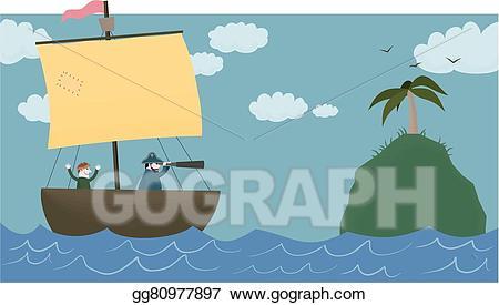 Vector ahoy illustration gg. Island clipart land sea