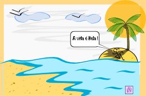 Island clipart land sea. Palm tree water clip