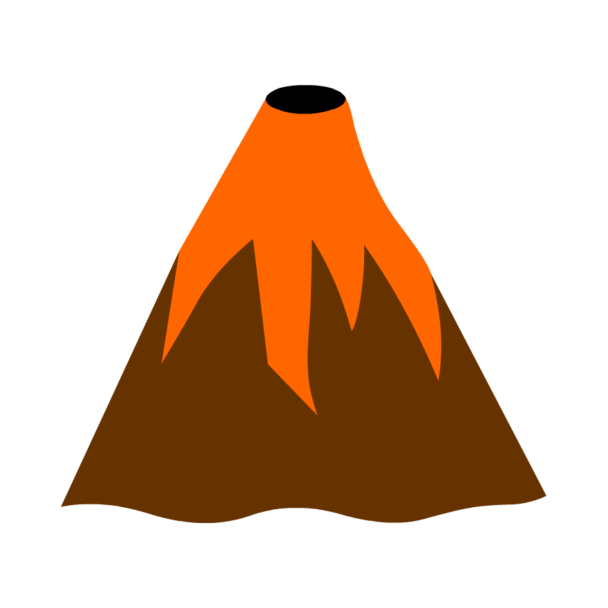 Mountains clipart volcanic mountain, Mountains volcanic ...