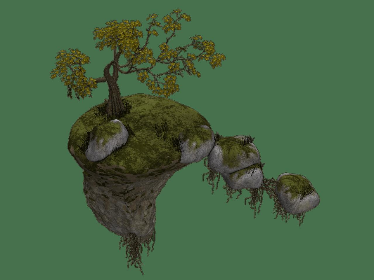 And path fantasty flying. Island clipart mini tree