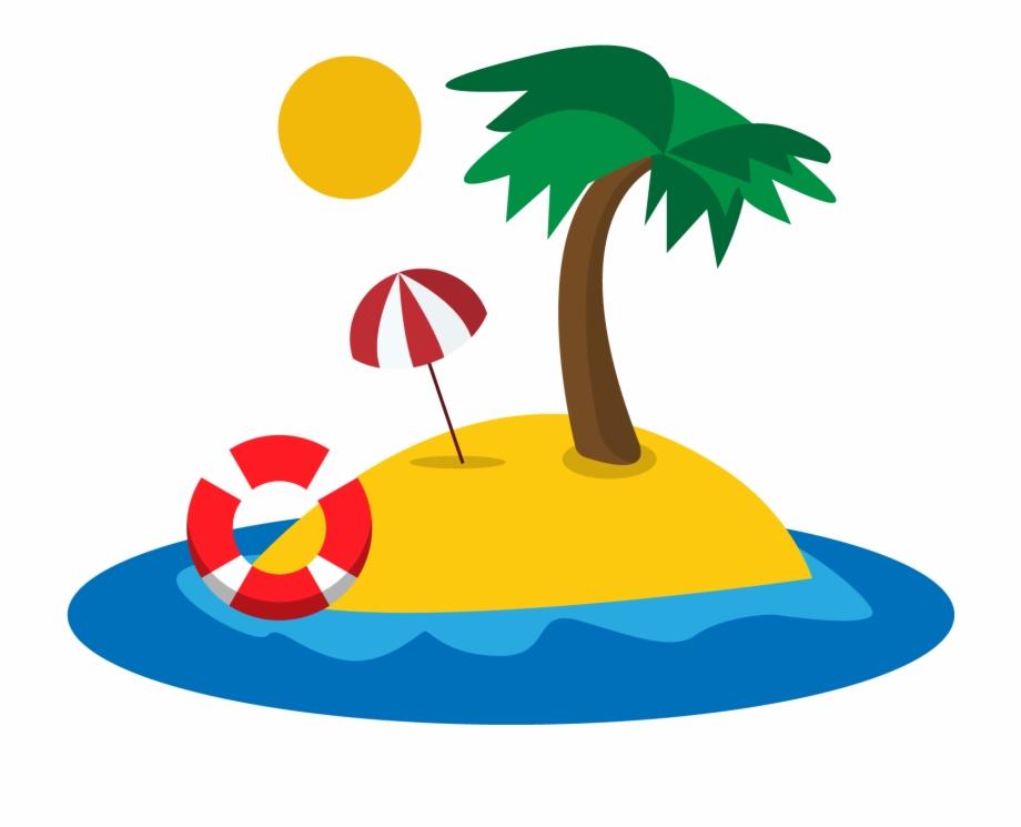 Island clipart mini tree. Beach tropical cartoon