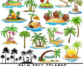 Palm etsy . Island clipart mini tree