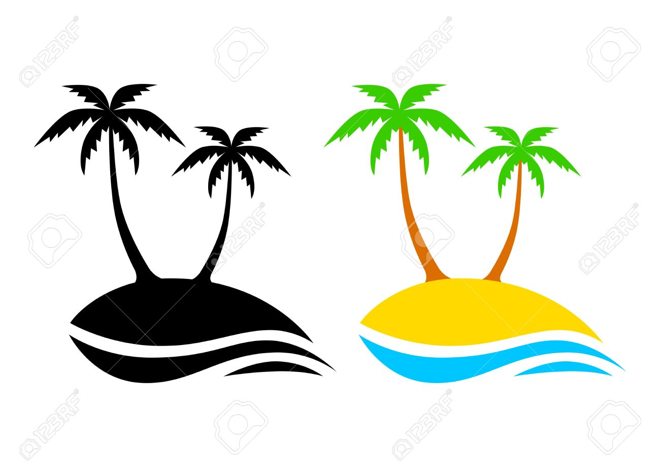 Island clipart no man is an island. Palm tree free download