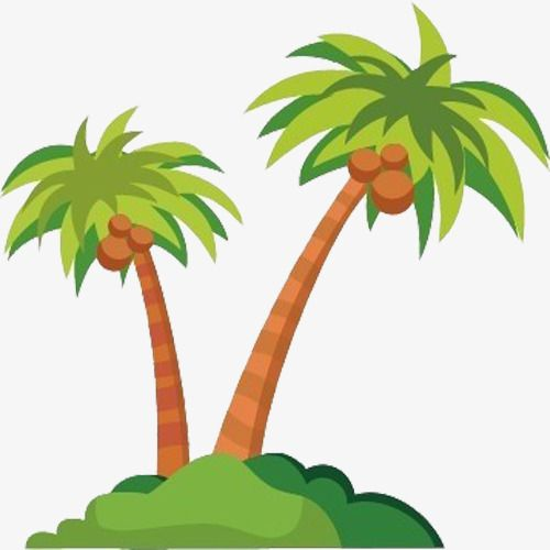 Island clipart no man is an island. A long with coconut