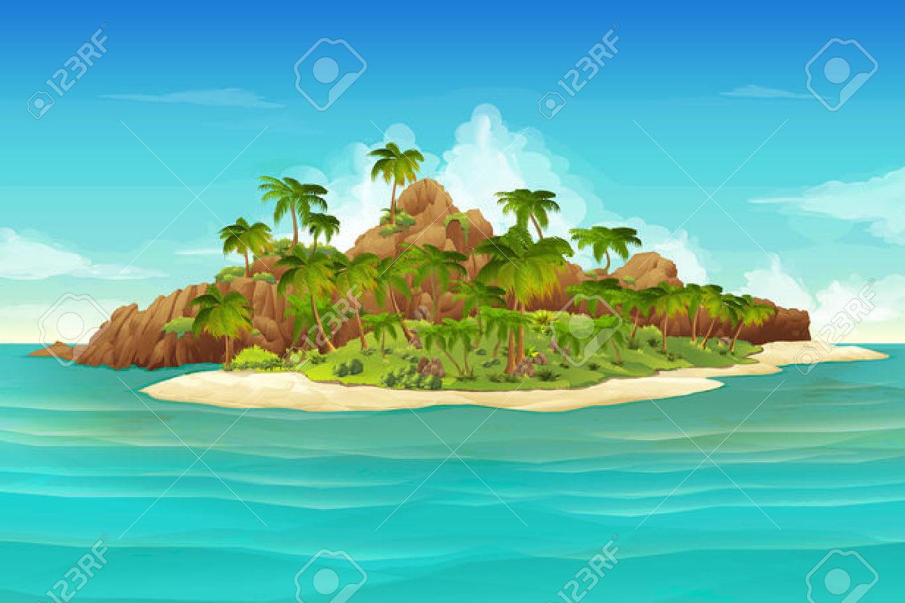 Landscape clipart island landscape, Landscape island ...