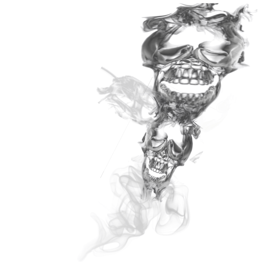Double skull transparant by. Cigarette smoke transparent png