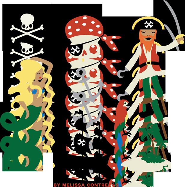Pirate clip art free. Luncheon clipart retro party