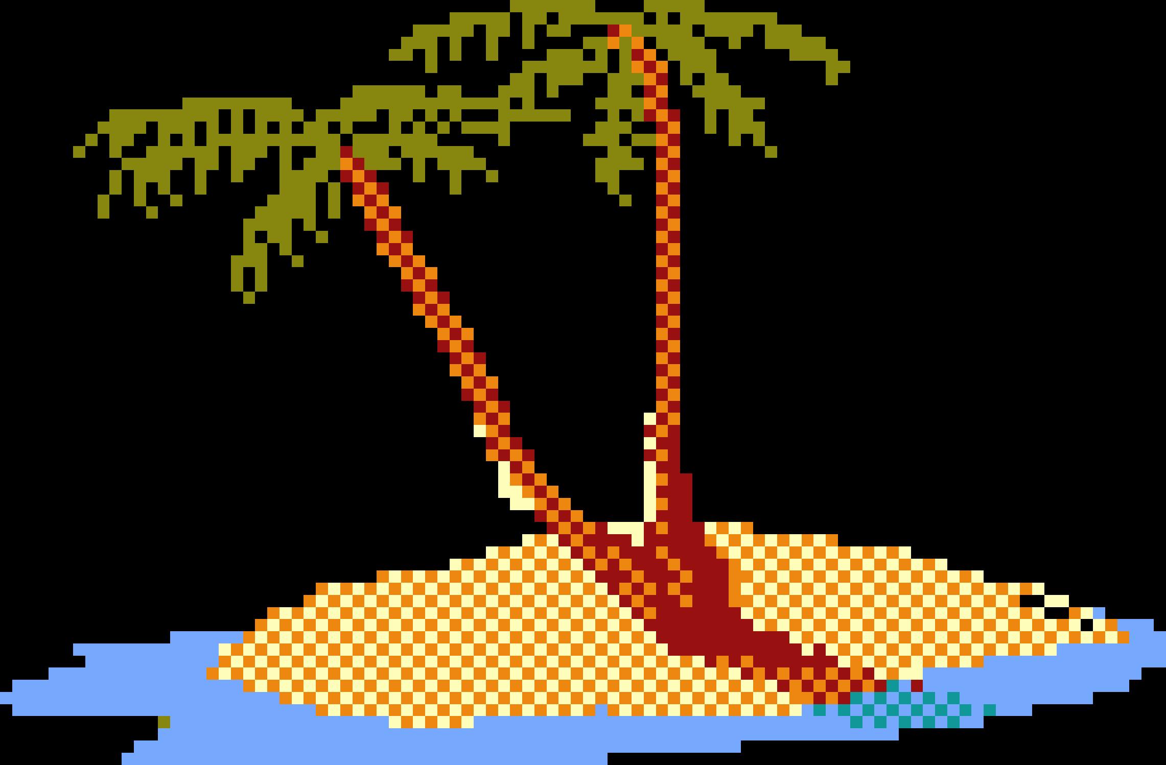 palm clipart 8 bit