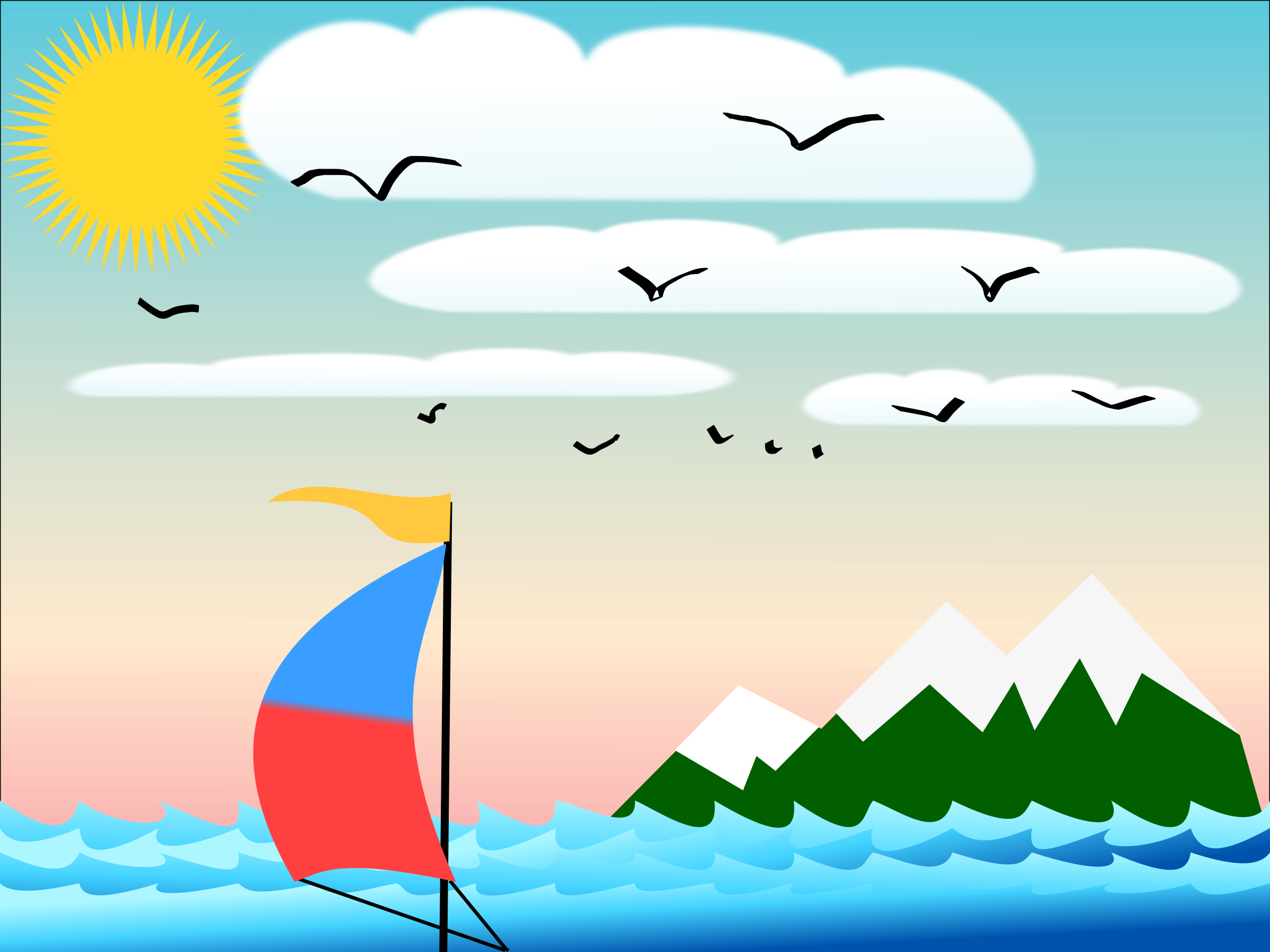 Sailboat icons png free. Island clipart wallpaper