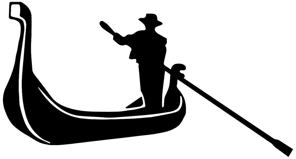 Gondola silhouette at getdrawings. Italy clipart boat italian