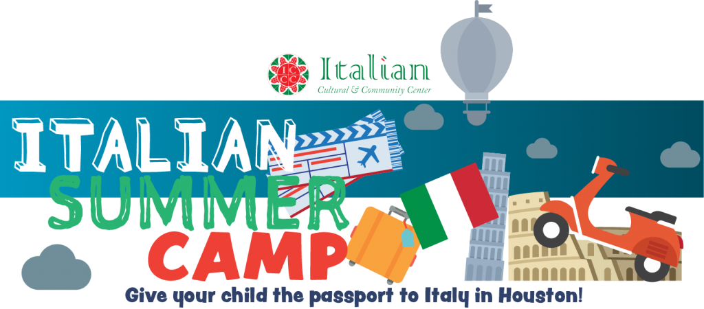 Summer camp cultural community. Italy clipart lunch italian