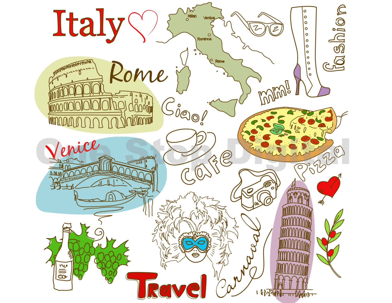 clipartlook. Rome clipart italy clipart