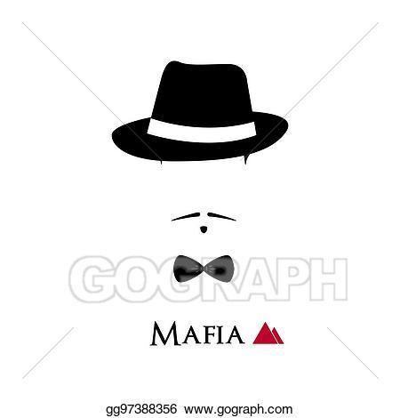 Italian clipart face. Vector art mafioso on