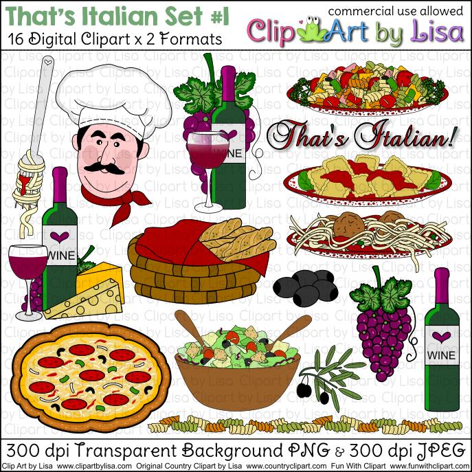 Italy clipart lunch italian. Clip art food vector