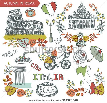 Italian clipart item. Pin on travel illustrations