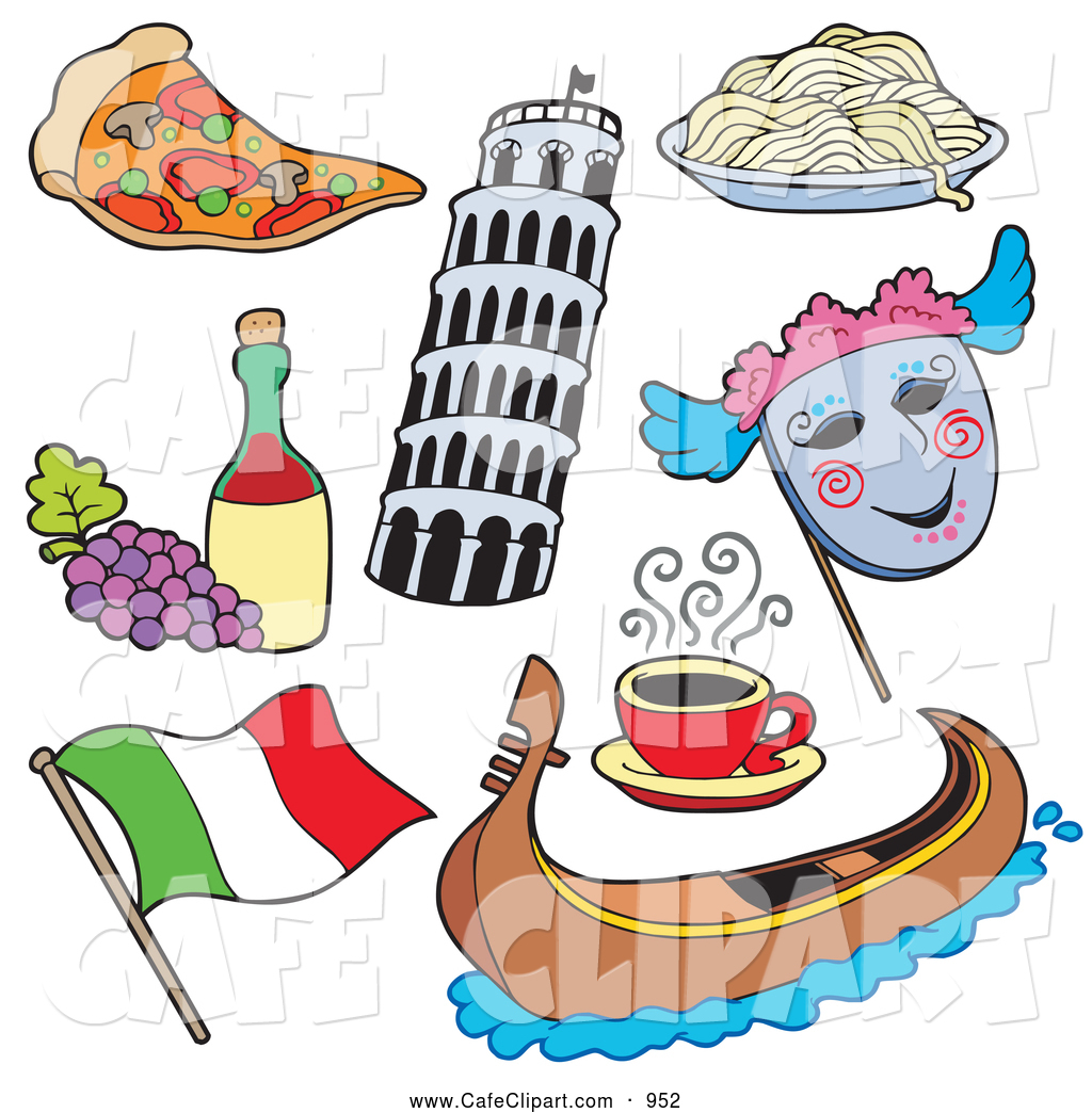 Vector cartoon clip art. Italian clipart item