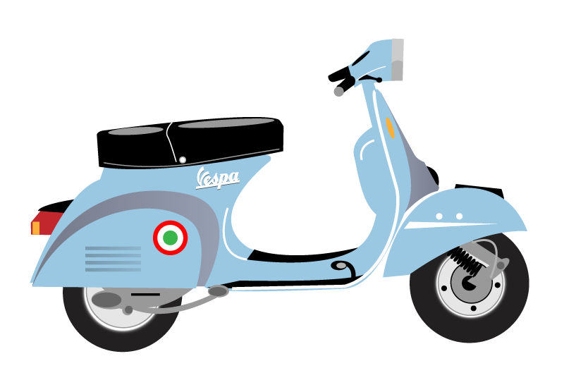 Scooter clipart vector. Vespa cartoon google search
