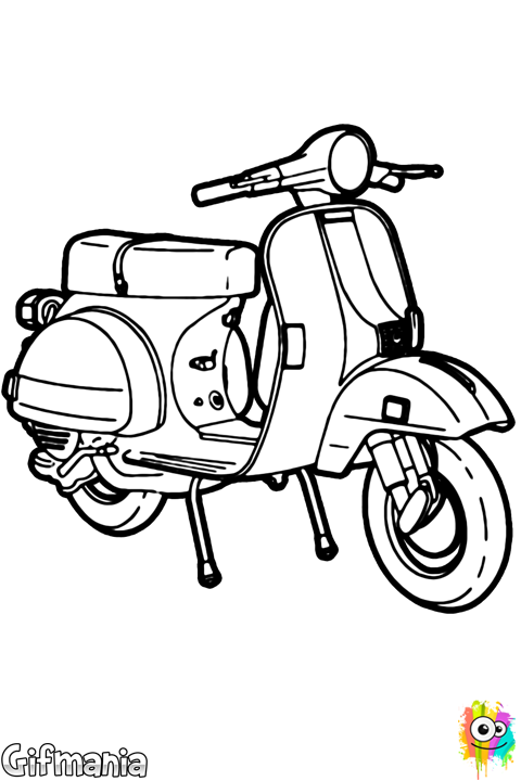 Coloriage dessin tatoo pinterest. Scooter clipart roller