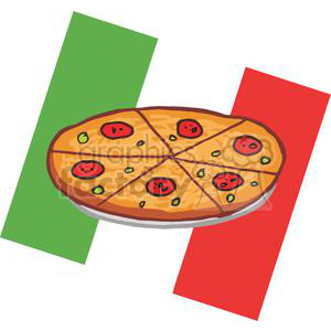 Italian clipart peperoni pizza. Pepperoni in front of
