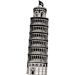 Italian clipart tower. Leaning of pisa cliparts