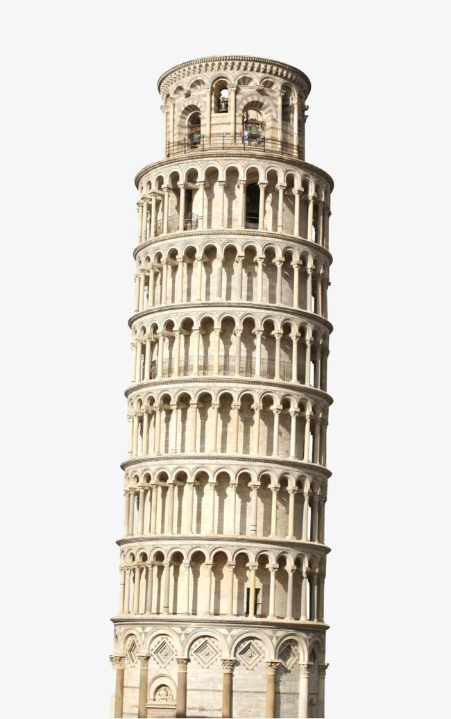 leaning of pisa. Italian clipart tower