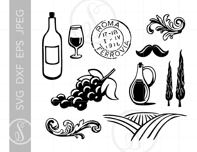 Italy clipart wine italian. Pin on svg cut