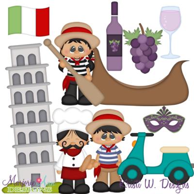 Kids around the world. Italy clipart