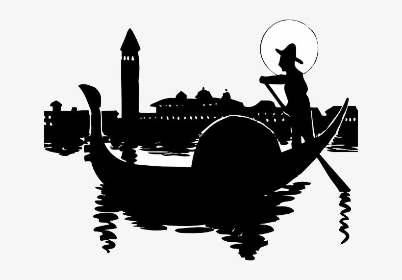 Water city silhouette cartoon. Italy clipart boat italian