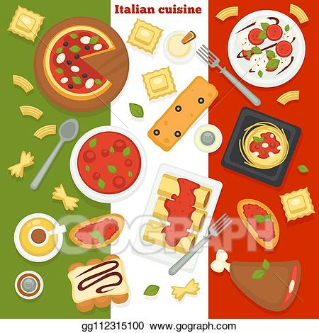 Vector illustration cuisine pizza. Italy clipart dish italian