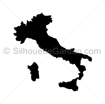 Italy clipart silhouette.