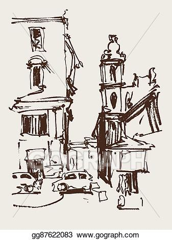 Italy clipart sketch. Eps illustration freehand seria