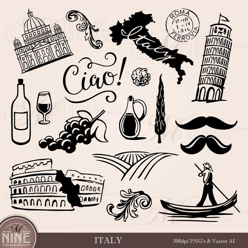 Clip art accents design. Italy clipart wine italian