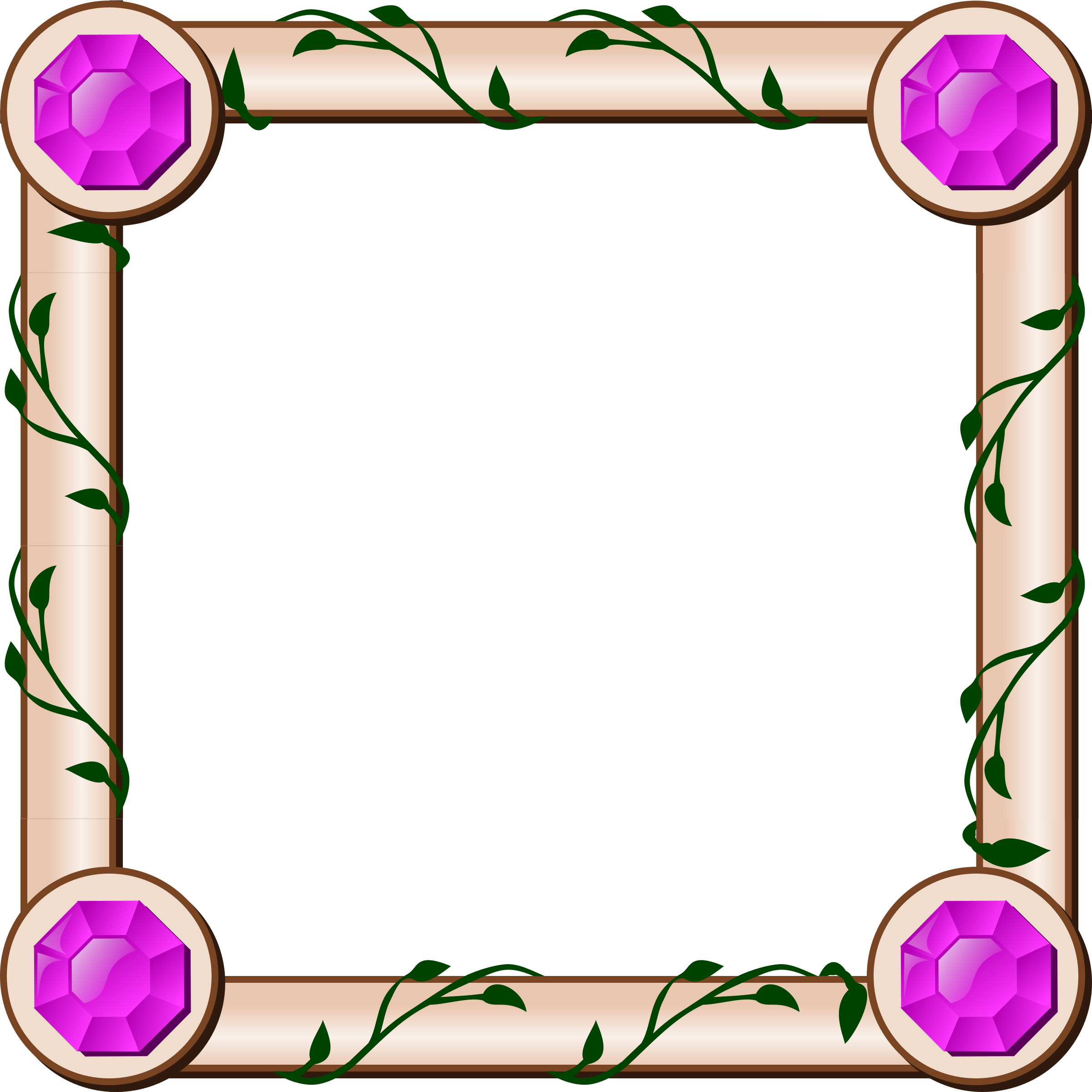 Rpg map ivy border. Square clipart jewel