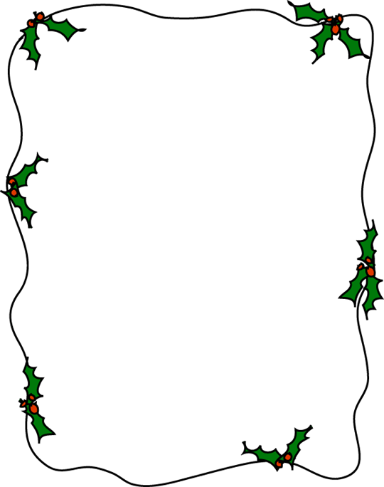 Ivy clipart holly and ivy. Border for x paper