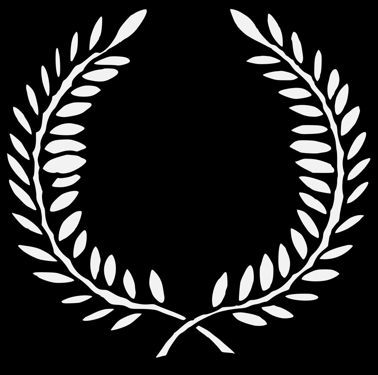 Wreath traceable heraldic art. Ivy clipart laurel