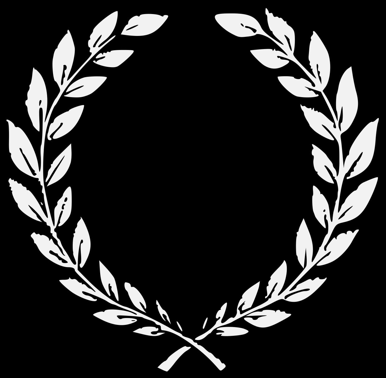 Ivy clipart laurel. Wreath traceable heraldic art