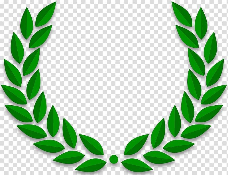 Green leaves illustration wreath. Ivy clipart laurel