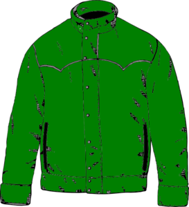 Jacket clipart. Green clip art at