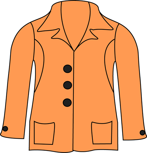 Orange . Jacket clipart