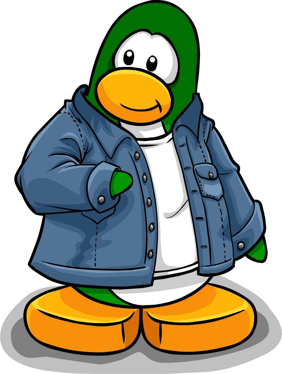 Image prnguin style march. Jacket clipart jeans jacket
