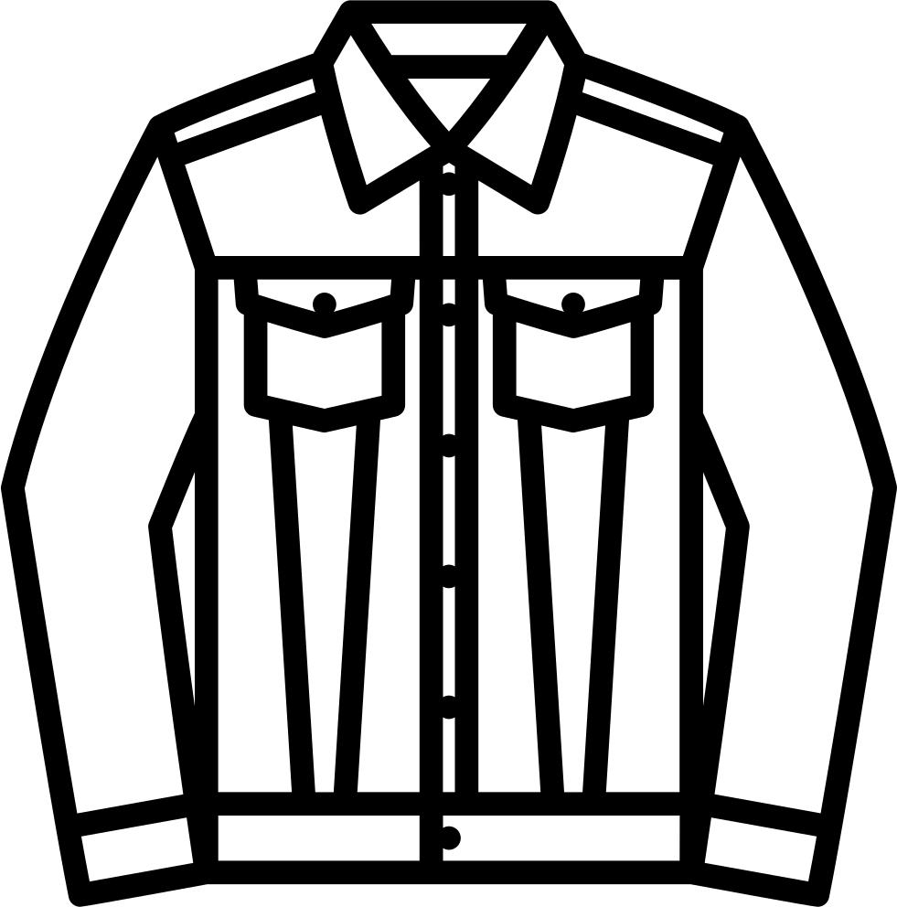 Jacket clipart jeans jacket. Denim svg png icon