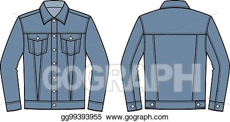 Vector illustration jean eps. Jacket clipart jeans jacket