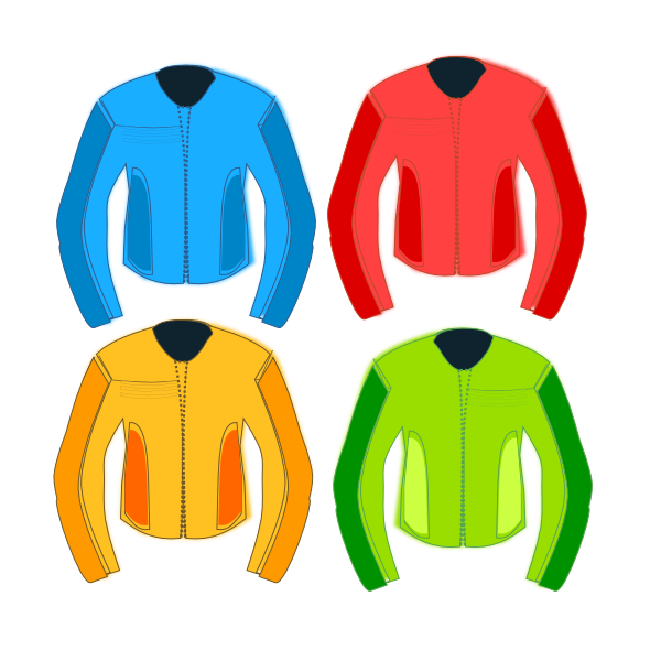 Race clipart colorful. Jackets clip art at