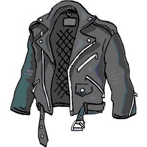 Jacket clipart motorcycle jacket.