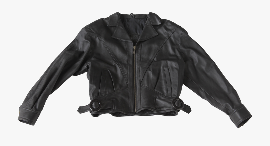 Jacket clipart motorcycle jacket. Black leather transparent background