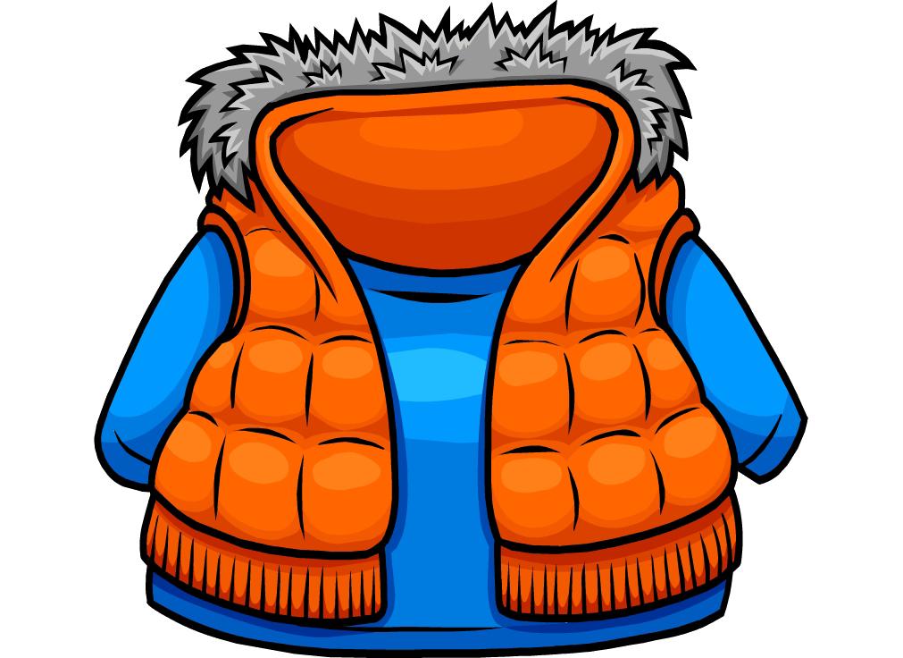 Jacket clipart purple jacket. Orange vest club penguin